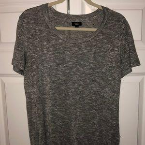 Grey side slit tshirt